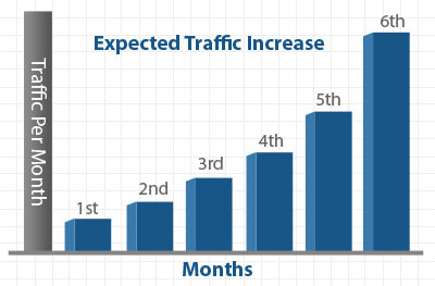 Expected Traffic Increase by SEO
